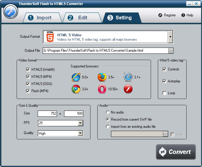 convert flash to html5
